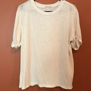 Free People White Tee